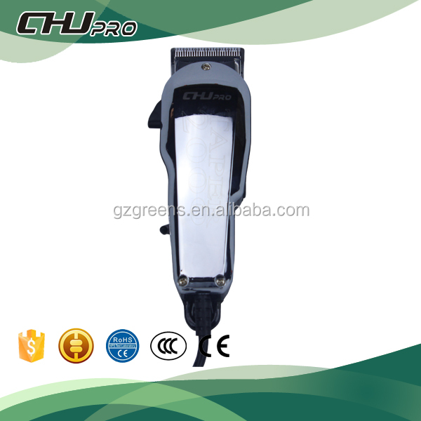 Electroplate professional cord ceramic hair clipper men trimmer