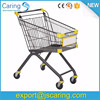 Steel Unfolding Supermarket Shopping Trolley Cart For Euro Market