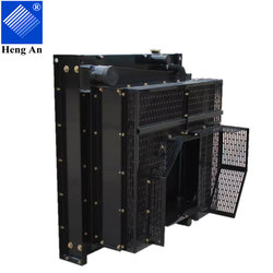 China Aluminum and Copper Cooling Engine Radiator System factory for Cummins Genset