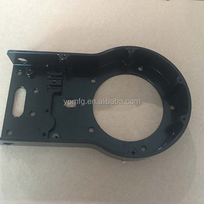 Wholesales Customized Laser Cutting Black Aluminum Parts For Sheet Metal Parts