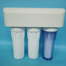 "5 stages first stage clear filter housing UF ultra filter water purifier 10""H big flow PP UDF CTO resin water filter"