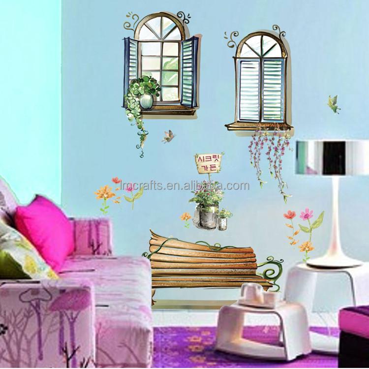 3d falsa finestra rimovibile poster da parete& decorativi per ...
