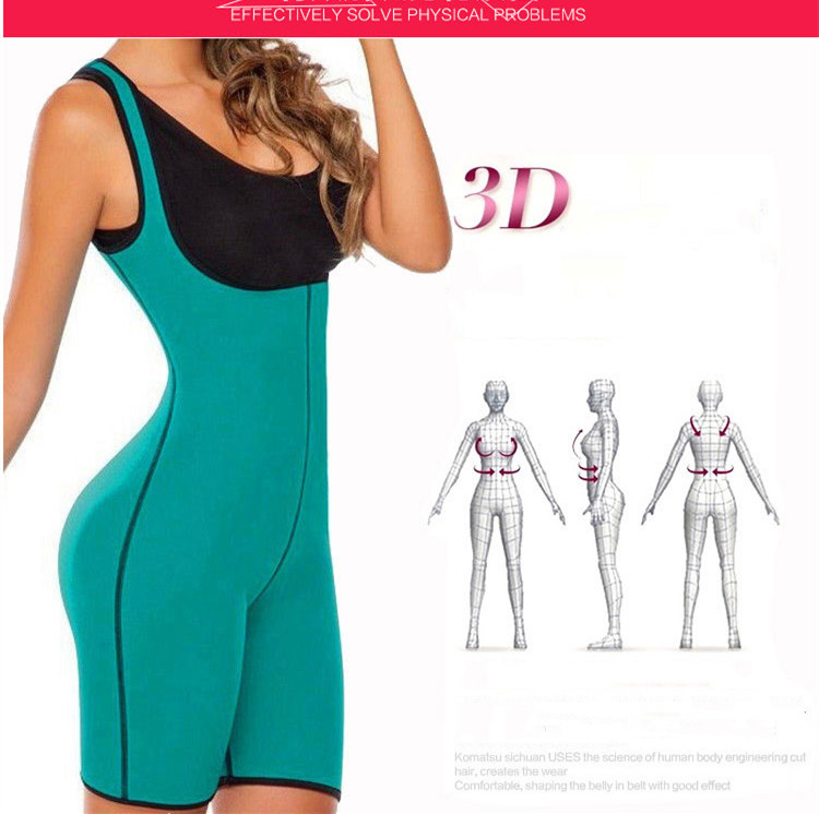Hot Shaper Women Bodysuit Shapewear Full Body Shaper Weight Loss Sauna Suit Slimming