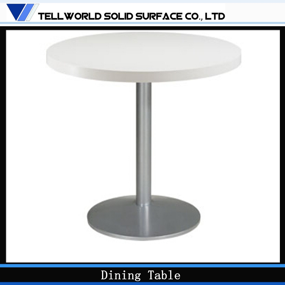 wholesale square to round table top solid surface white long table