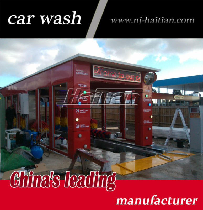 Installed in Australia TX380 auto tunnel car wash gentry 11 brushes