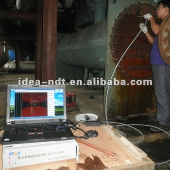 Eddy current (ET) and remote field (RFT) tubing probes system in power plant