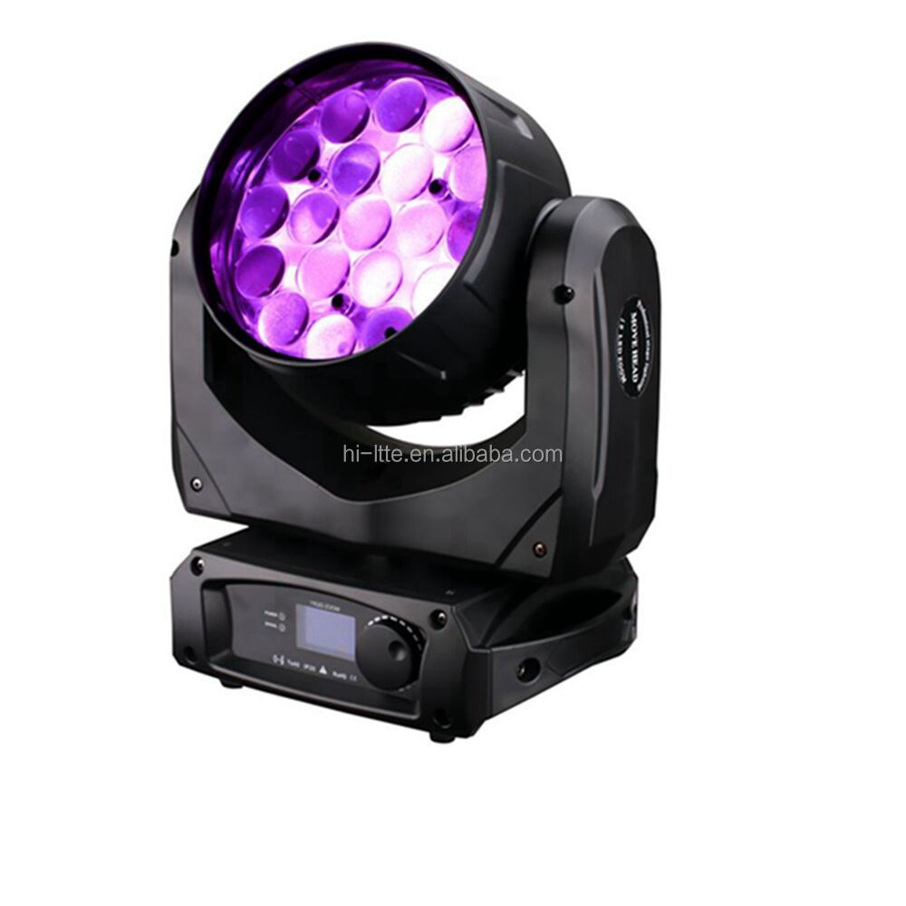 Stage Disco DJ Night Club Home Party Wedding Decoration Light MAC Aura 19*10W RGBW 4 IN 1 LED Beam Zoom