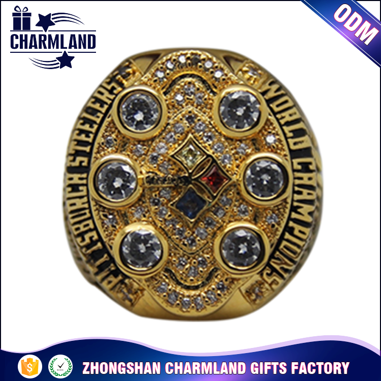 Factory Wholesale Custom Ring cheap gold color copper Men's championship rings