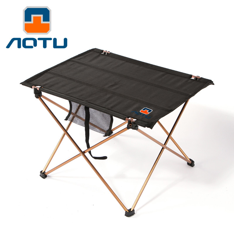 <strong>Folding</strong> outdoor aluminum alloy cloth and tea <strong>folding</strong> barbecue picnic table AT6728