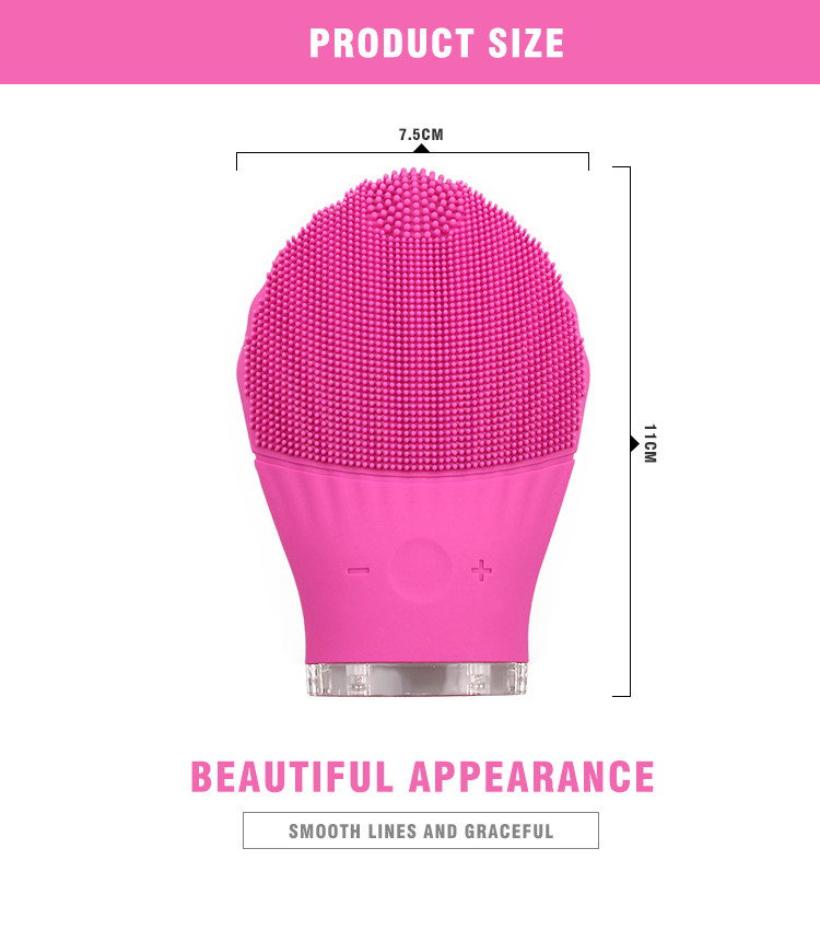 ENZO Beauty & personal care beauty face wash facial brush cleansing Korean skincare silicone massage facial cleansing brush