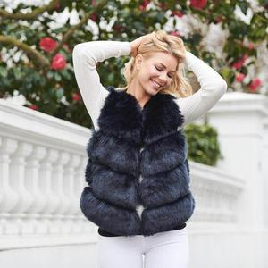 custom and wholesale fashion high quality faux fox fur vest
