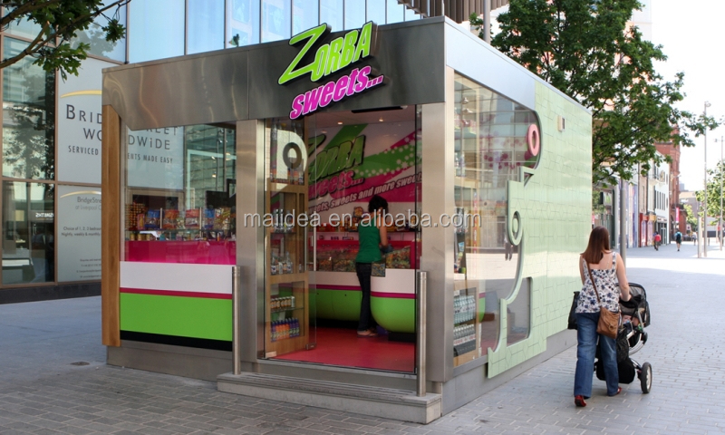 kitchen containers for sale fast installation stainless steel kiosk fast food kiosk steel mobile food kiosk for sale