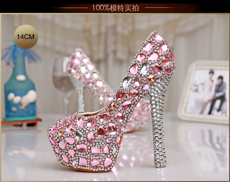 Platform <strong>Heels</strong> Ladies White Designer Pumps High <strong>Heel</strong> Womens Luxury Wedding Shoes For Bride Crystal
