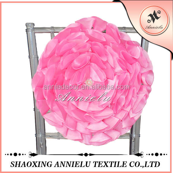 Buy cheap china silk flowers for wedding decoration products find new style blush silk artificial flower for wedding chair sash decoration mightylinksfo