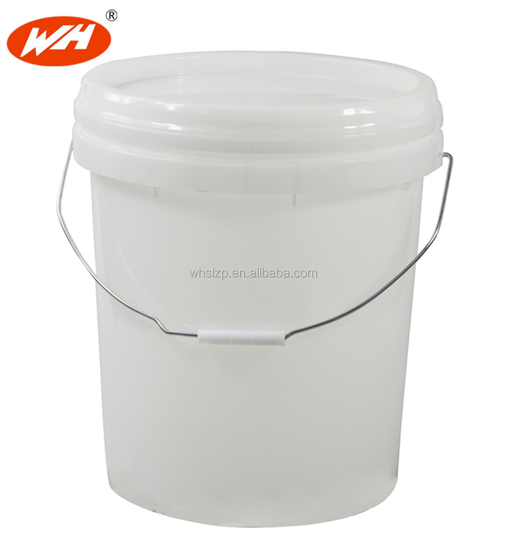 Clear plastic pail with lid and handle round plastic for 1 gallon clear plastic paint cans