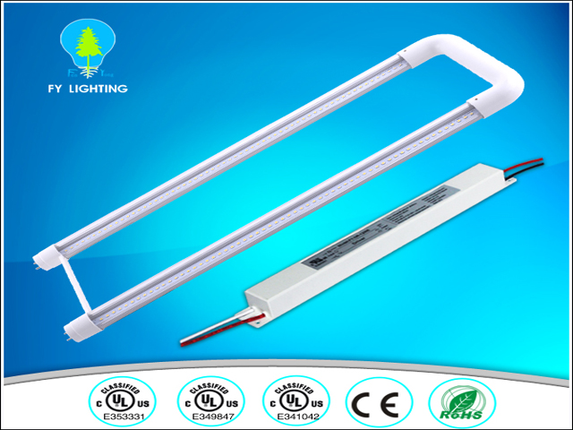 Guangzhou Led factory high efficiency 110lm/w u bend led t8 tube lighting 110v ul led tube