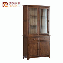 Industrial 2 drawer wooden sideboard cabinet for office furniture