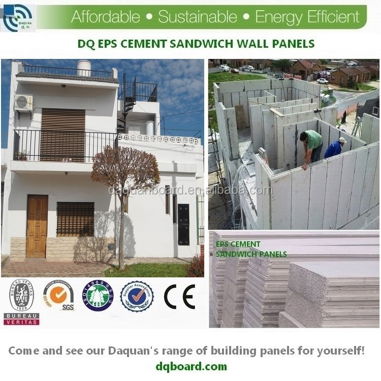 Prefab individual homes by eps cement sandwich panel 2 storey duplex house building