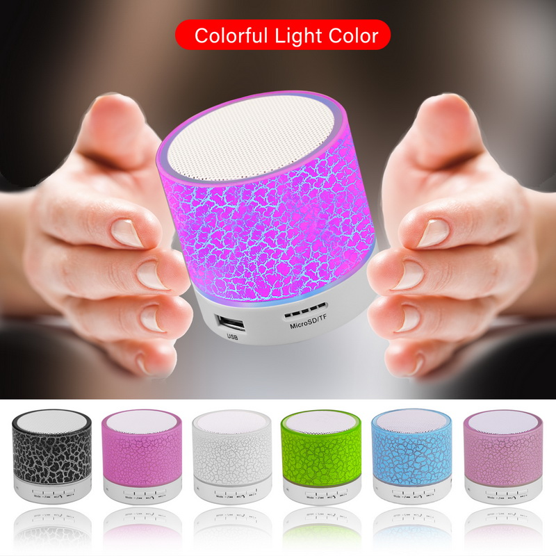 Factory Supply Mini Wireless BT Speaker, LED Music Plastic Active Speaker Boxes