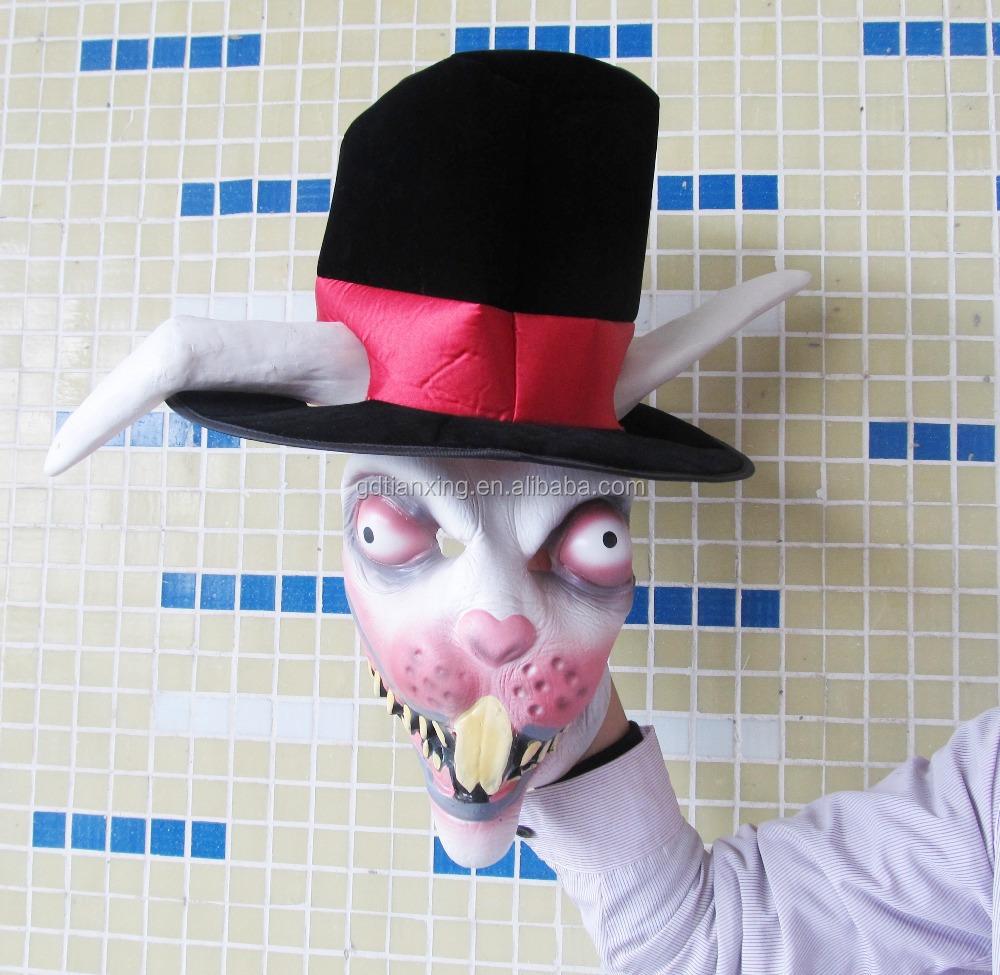 Wholesale Devil Rabbit Animal Head Mask Latex Horse Halloween ...