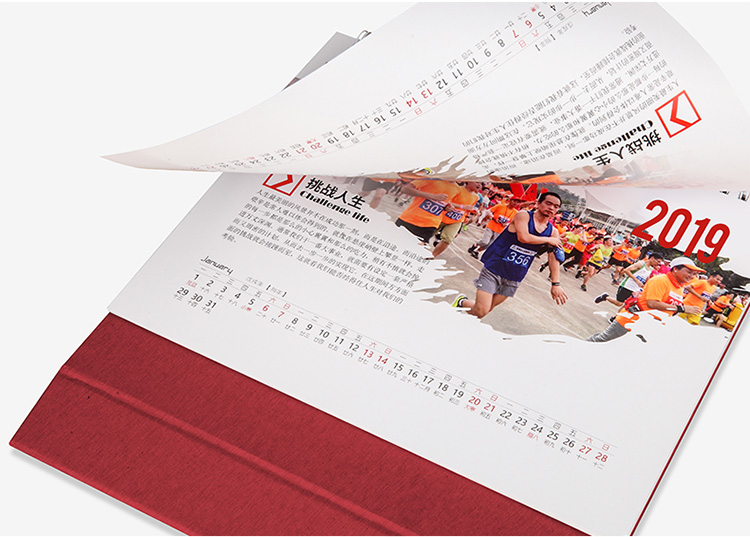 hot sales custom printing paper desktop table calendar