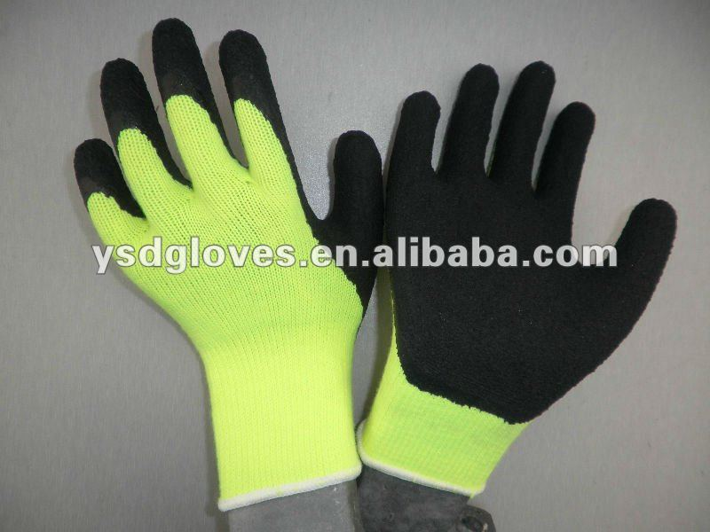 Fabric foam latex coated safety gloves