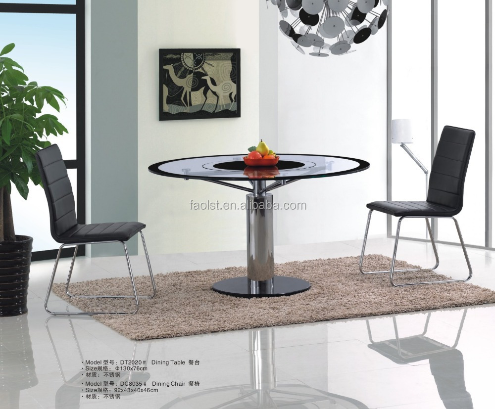 Round Wedding Dining Table With Metal Frame Mirrored Furniture