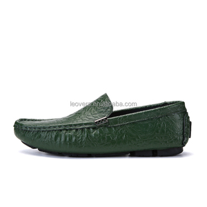 Men Leather Slip On Shoes PU Synthetic Leather For Shoes