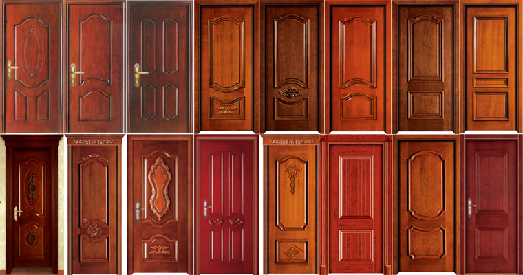 Solid wood entry model main door solid wood doors design for Wood door design latest