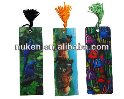 custom design 3D lenticular bookmark