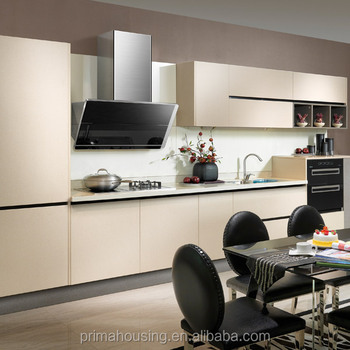Apartment Aluminium Modular Kitchen, Kitchen Design Sample, Handleless  Kitchen Cabinet