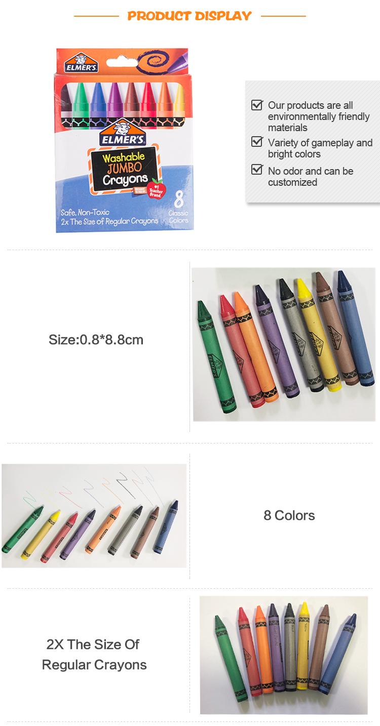 Aman dan Tidak Beracun Warna-warni Anak-anak Menggambar Lilin Krayon 8 Warna Set