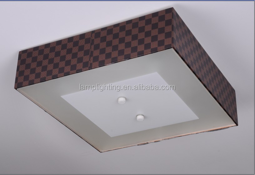 Plafoniera Tessuto : Contemporanea quadrato nero tessuto plafoniera buy lampada da