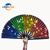 Customized Fabric Large Rave Folding Hand Fans for Women and Men