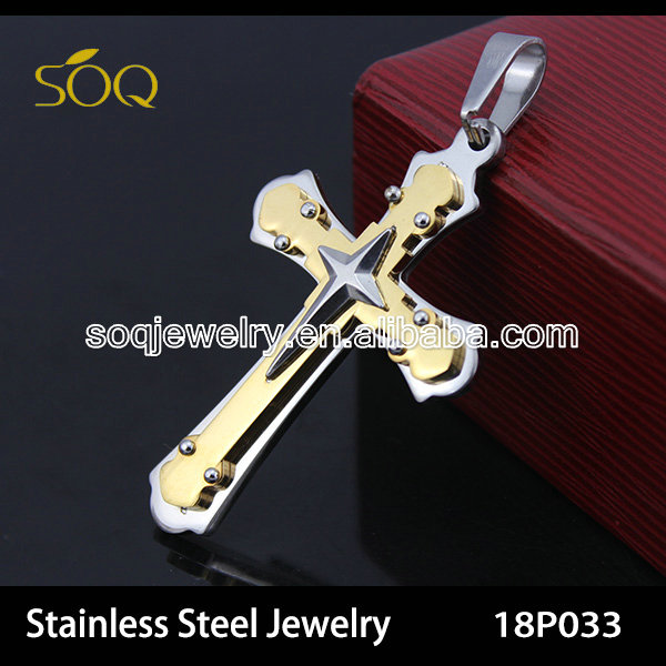 18P033 Wholesale Fashion Jewelry 316l Stainless Steel Cross Pendant