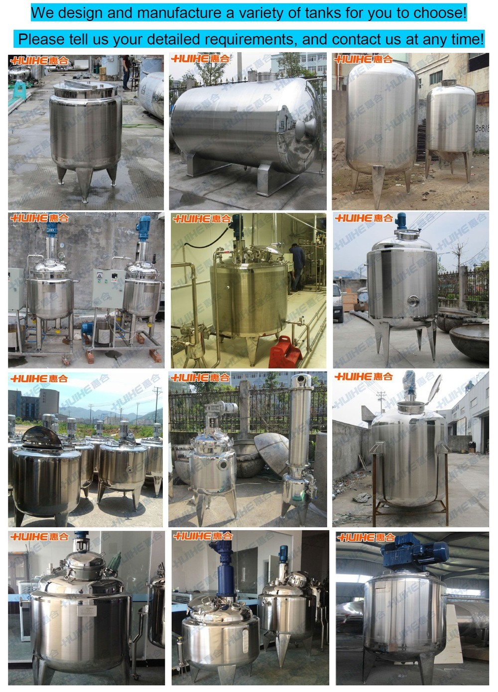 High Quality Jacketed Stainless Steel Price Of Mixing Tank For ...