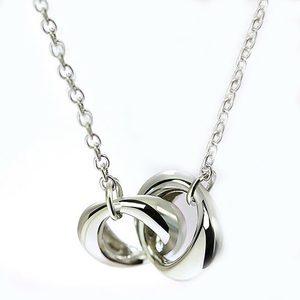 Rings Design 925 Sterling Silver/Brass Plated Pendant With Chain Mother Gifts
