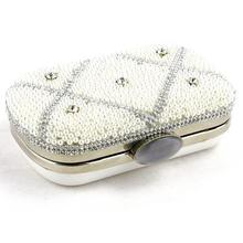 Wholesale Dinner Women Pearl Rhinestone Clutch Purses Manufacture BAG178-001