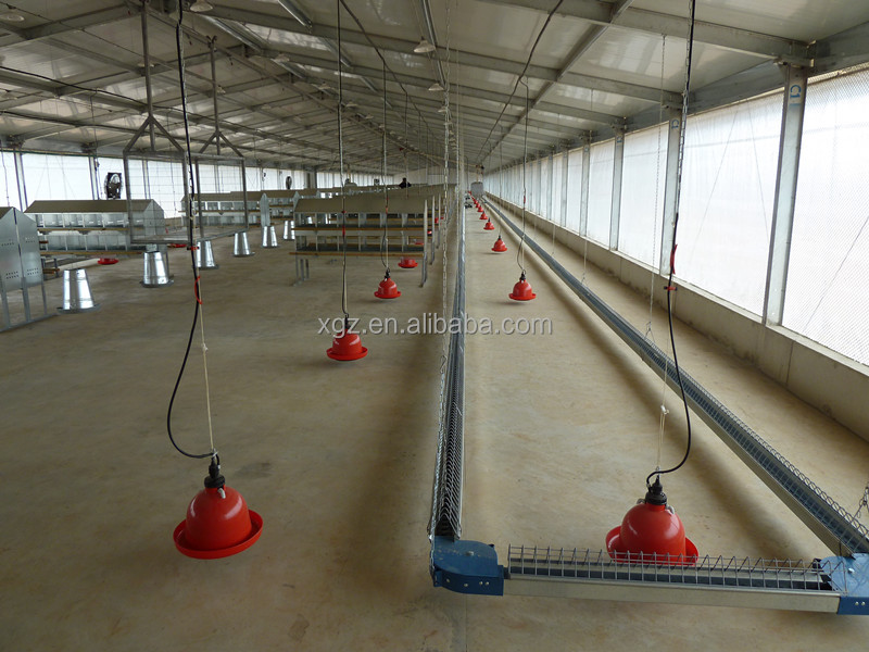 cheap galvanized steel structure poultry house