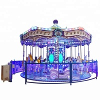 Outdoor kids amusement rides carousel merry go round for sale