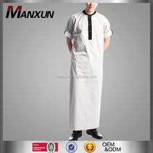 2016 Latest Design Men Gender Rolled Thobe Clothing Type Dubai Islamic Clothing Arabic Men Jubah Clothing