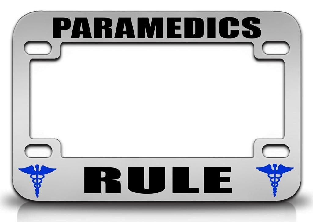 Buy PARAMEDICS RULE Paramedics Nurse Doctor Quality Metal MOTORCYCLE ...