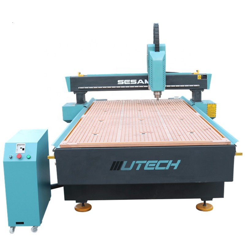 Cnc machine router 1325 with hybrid vacuum T-slot table 1224 1325 1530 for Acrylic wood MDF Plywood aluminum guitar