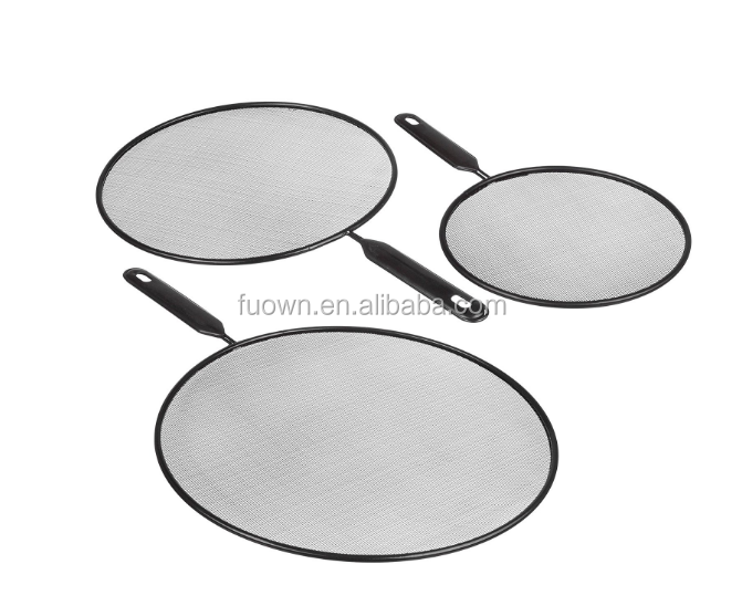 Hot verkoop keuken pan cover koken tool rvs olie ploetert guard