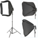Neewer Professional Protable Off-Camera Flash Softbox & Stand Kit for Nikon SB900 SB800 SB600, Canon 580EXII 580EX 430EXII 430EX