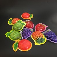 the plastic packaging with fruit shape for the candy