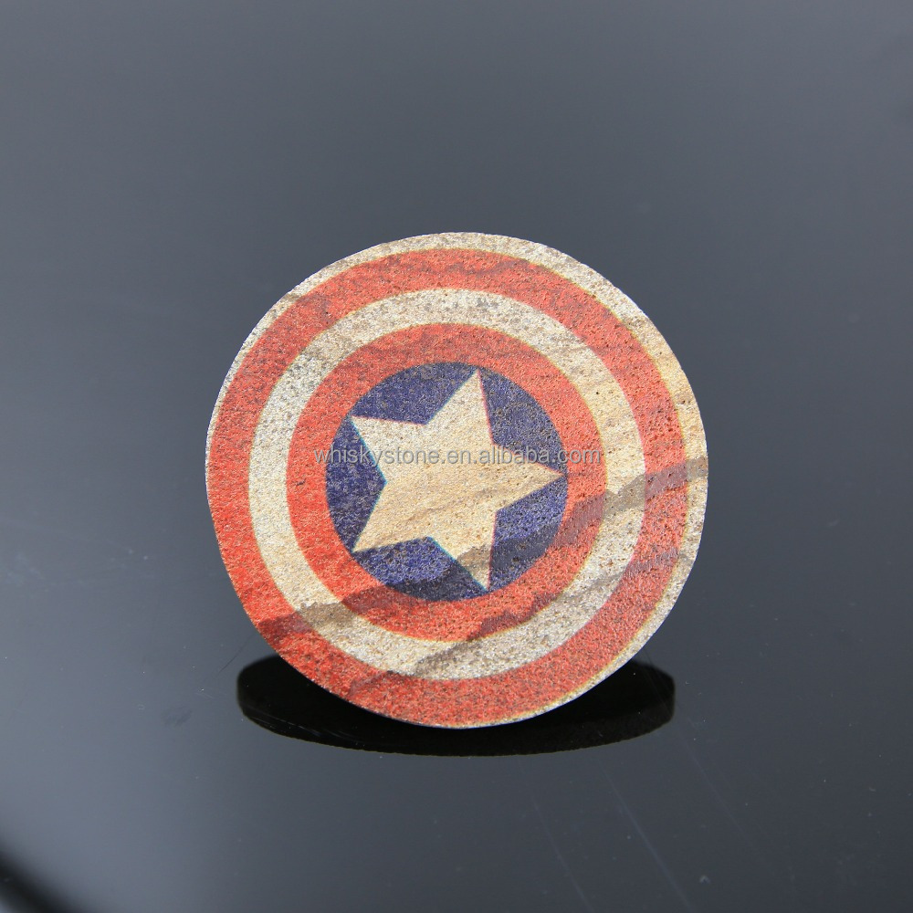 Wholesale Sandstone Coasters, Drink Coasters With Cork Back