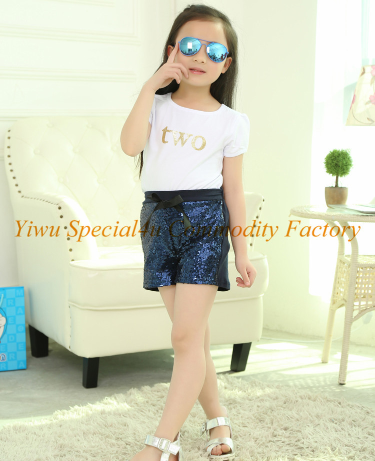 Sexy Baby Girl Summer Shorts Popular Design Sequin Shorts For Kids ...