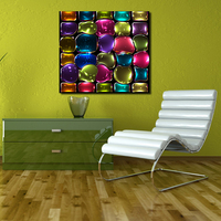 Colors Colorful Stained Glass Paintings On Canvas Modern Wall Pictures For Living Room Home Decor No Frame Oil Painting
