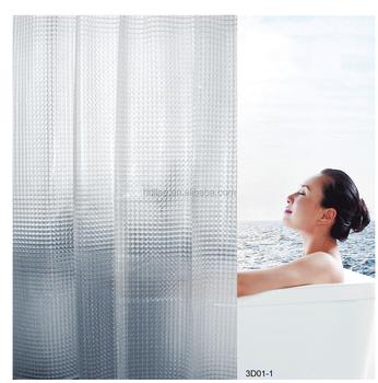 Heavy Duty 100% Peva 3d Cat Eye Effect Bath Curtain Waterproof ...
